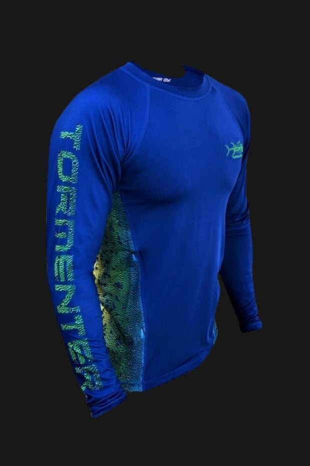 """Side To"" Vented Performance Shirt - Blue Mahi Men's SPF Ocean Fishing Tops Tormenter Ocean"