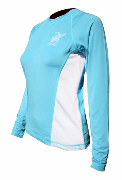 Youth Turtle SPF50 Rash Guard - Aqua Youth Apparel Tormenter Ocean XS Seafoam