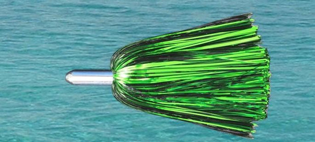 Steel Head Chromed & Aluminum Trolling Lures Tormenter Ocean MJG-(Green/Black) Rigged