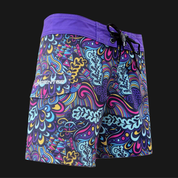 "Tormenter Women's 8 Way Stretch 3.5"" Board Shorts - Reef Ladies Board Shorts Tormenter Ocean"