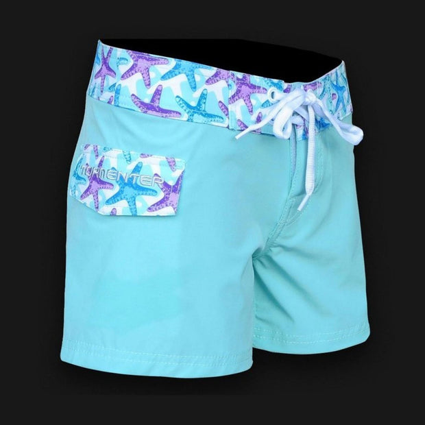 "Tormenter Women's 8 Way Stretch 3.5"" Board Shorts - Starfish Ladies Board Shorts Tormenter Ocean"