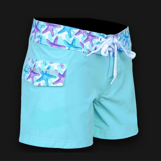 "Tormenter Women's 8 Way Stretch 6"" Board Shorts - Starfish Ladies Board Shorts Tormenter Ocean 0"