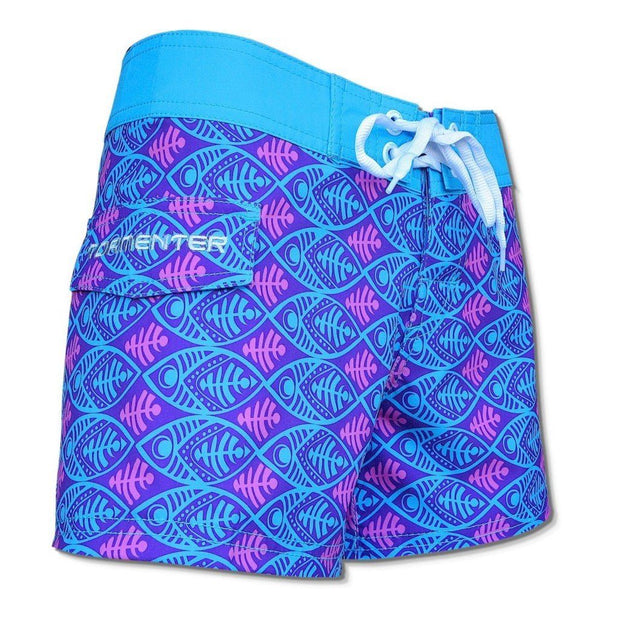 "Tormenter Women's 8 Way Stretch 3.5"" Board Shorts - Aquafish Ladies Board Shorts Tormentor Ocean"