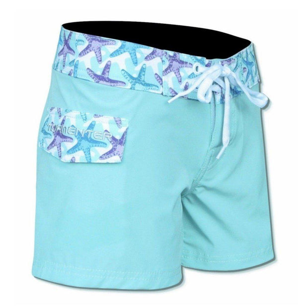 "Tormenter Women's 8 Way Stretch 6"" Board Shorts - Starfish Ladies Board Shorts Tormenter Ocean"