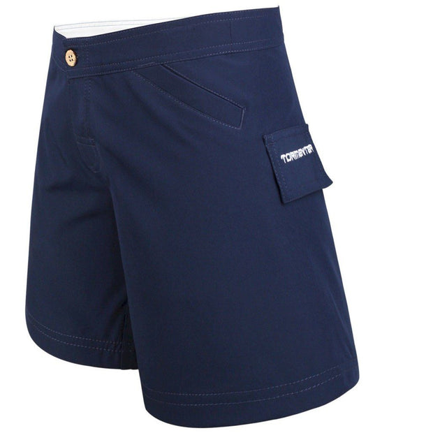 Women's Bermuda Series Yachting Shorts - Navy Women's board shorts Tormenter Ocean