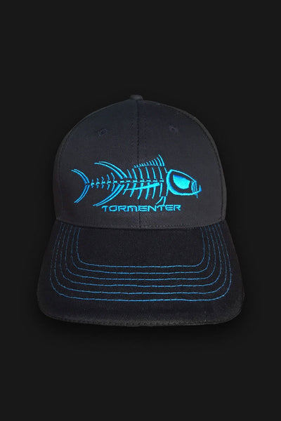 Black & Blue Fishing Cap - Tormenter Ocean Fishing Gear Apparel Boating SPF Surfing Watersports