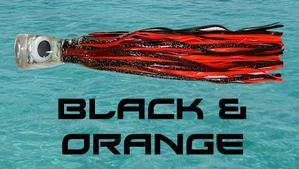Black & Orange - Big Mouth Trolling Lure - Tormenter Ocean Fishing Gear Apparel Boating SPF Surfing Watersports