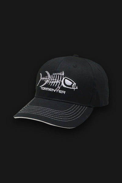 Black & White Fishing Cap - Tormenter Ocean Fishing Gear Apparel Boating SPF Surfing Watersports