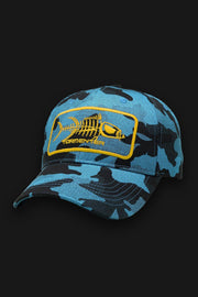 Blue Camo Baseball Hat - Tormenter Ocean Fishing Gear Apparel Boating SPF Surfing Watersports