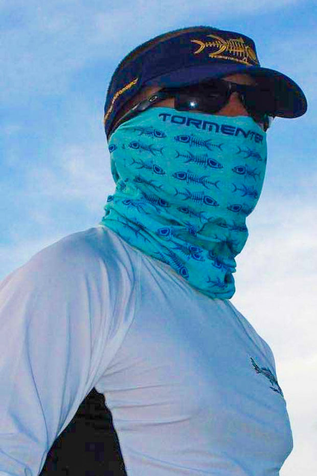 Bones Seafoam Neck Gaiter - Tormenter Ocean Fishing Gear Apparel Boating SPF Surfing Watersports