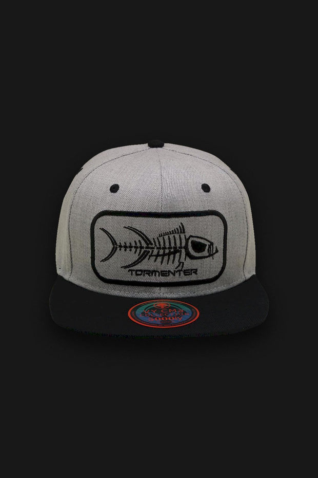 Flat Bill Hat - Gray - Tormenter Ocean Fishing Gear Apparel Boating SPF Surfing Watersports