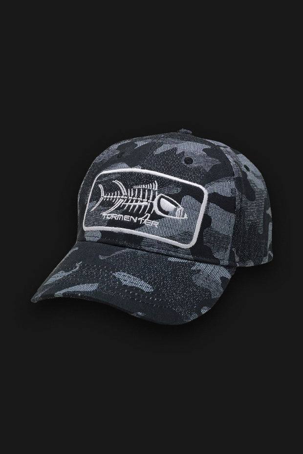 Gray Camo Baseball Hat - Tormenter Ocean Fishing Gear Apparel Boating SPF Surfing Watersports