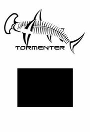 Hammerhead Black Performance Fishing Shirt SPF 50 - Tormenter Ocean Fishing Gear Apparel Boating SPF Surfing Watersports