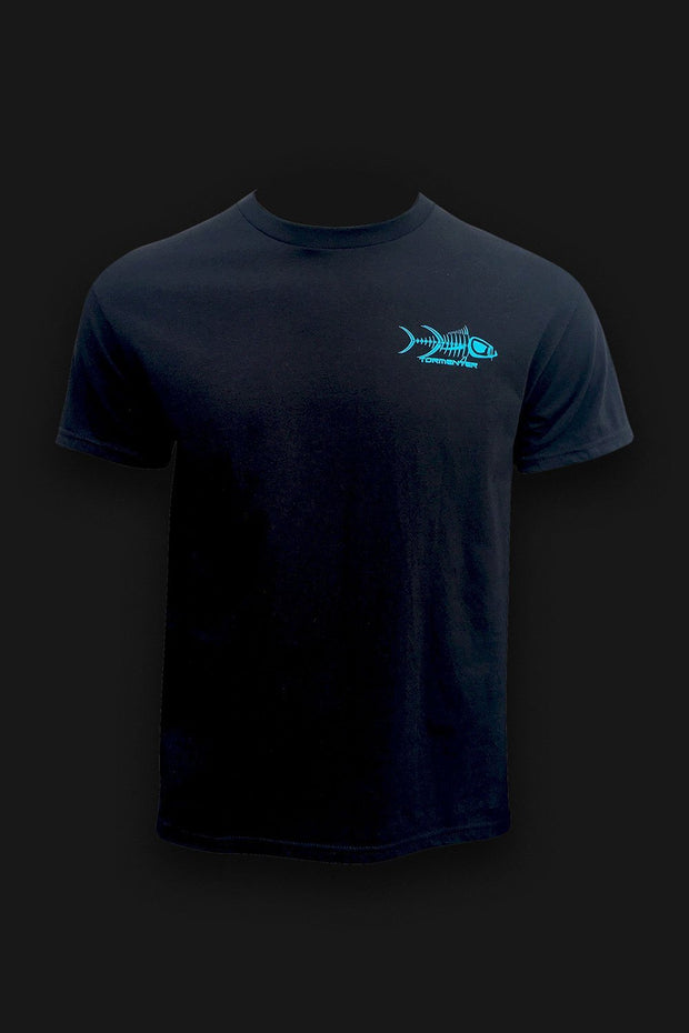 Kraken Black Men's Fishing T-Shirt - Tormenter Ocean Fishing Gear Apparel Boating SPF Surfing Watersports