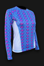 Ladies SPF-50 Shirt - Aqua Fish - Tormenter Ocean Fishing Gear Apparel Boating SPF Surfing Watersports