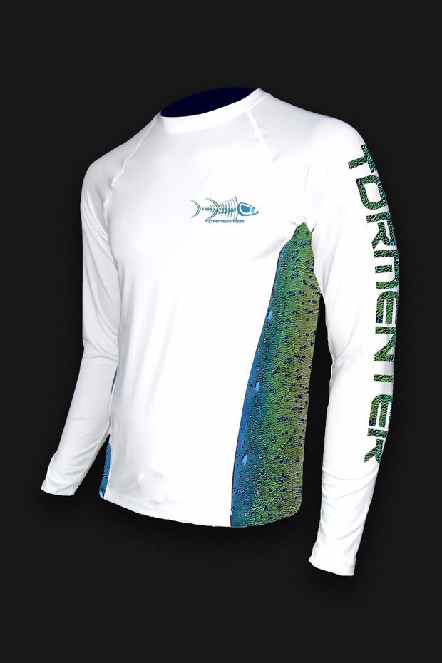 Mahi Print Side Venting SPF 50 Fishing Shirt - Tormenter Ocean Fishing Gear Apparel Boating SPF Surfing Watersports
