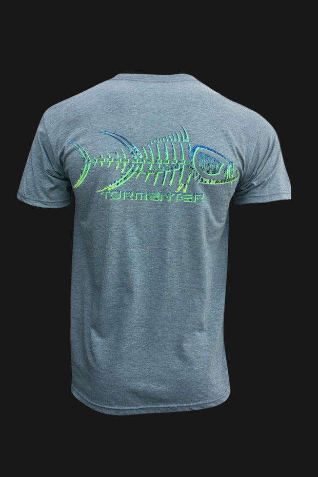 Mahi Skin Gray Men's Fishing T-Shirt