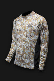 Marlin Camo Desert SPF Fishing Shirt - Tormenter Ocean Fishing Gear Apparel Boating SPF Surfing Watersports