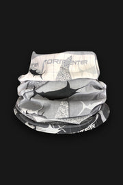 Marlin Grayscale Neck Gaiter - Tormenter Ocean Fishing Gear Apparel Boating SPF Surfing Watersports