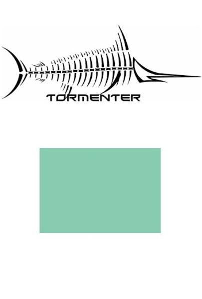 Marlin Seafoam Green SPF50 Performance Shirt - Tormenter Ocean Fishing Gear Apparel Boating SPF Surfing Watersports