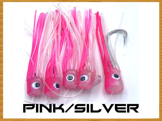 Softy Chain Daisy Chains & Multi Bait Rigs Tormenter Ocean Pink/SIlver