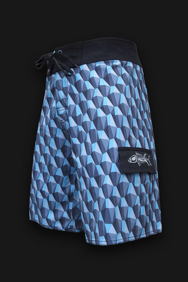 Reef Break Board Shorts -  3D Rocks - Tormenter Ocean Fishing Gear Apparel Boating SPF Surfing Watersports