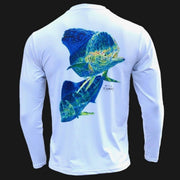 Men's Performance Shirt - Electrified Mahi Men's SPF Ocean Fishing Tops Tormenter Ocean