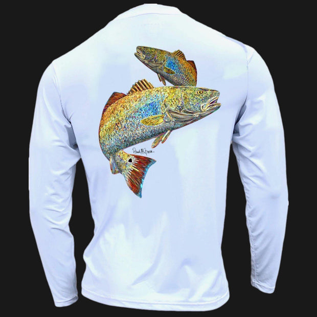 Men's Performance Shirt - Electric Fish – Redfish Men's SPF Ocean Fishing Tops Tormenter Ocean