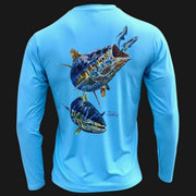Men's Performance Shirt - Electrified Tuna Men's SPF Ocean Fishing Tops Tormenter Ocean