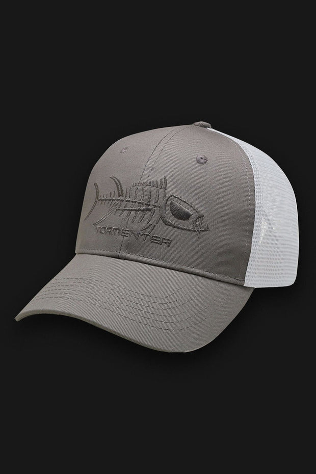 Tormenter Fishing Cap - Gray & White - Tormenter Ocean Fishing Gear Apparel Boating SPF Surfing Watersports