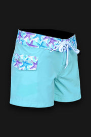 "Tormenter Women's 8 Way Stretch 3.5"" Board Shorts - Starfish - Tormenter Ocean Fishing Gear Apparel Boating SPF Surfing Watersports"