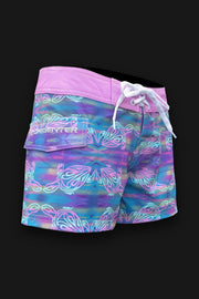 "Tormenter Women's 8 Way Stretch 3.5"" Board Shorts - Turtle - Tormenter Ocean Fishing Gear Apparel Boating SPF Surfing Watersports"