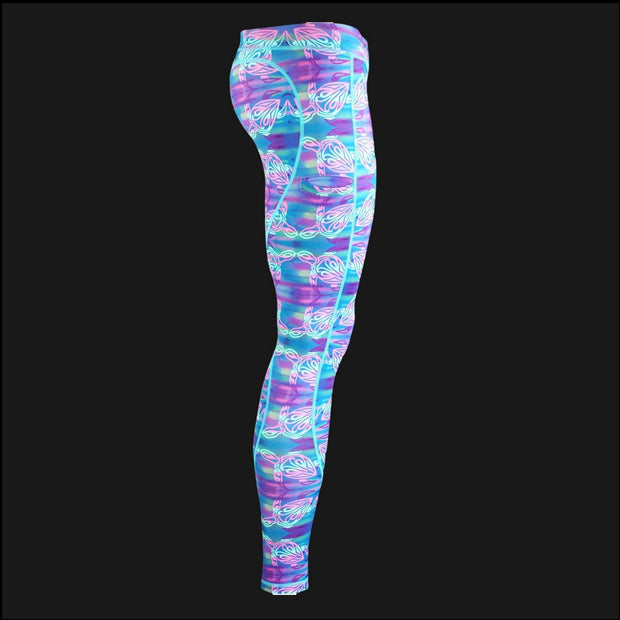 Active Leggings - Turtle Women's Performance Fishing Leggings Tormenter Ocean