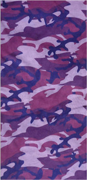 Violet camo neck & face shield - Tormenter Ocean Fishing Gear Apparel Boating SPF Surfing Watersports