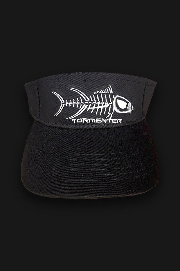 VISOR - Black & White - Tormenter Ocean Fishing Gear Apparel Boating SPF Surfing Watersports