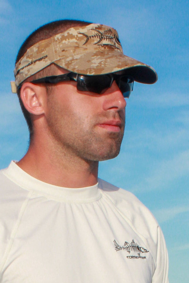 VISOR - Desert Camo - Tormenter Ocean Fishing Gear Apparel Boating SPF Surfing Watersports