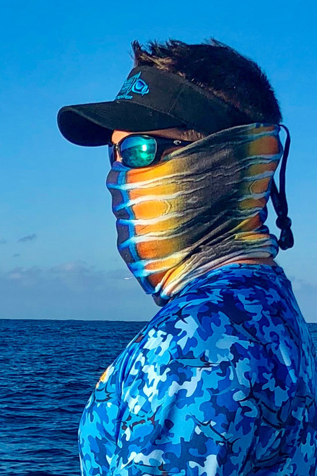 Wahoo Skin Neck Gaiter - Tormenter Ocean Fishing Gear Apparel Boating SPF Surfing Watersports