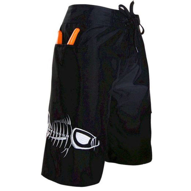 Black and White Waterman 5 Pocket Board Shorts Waterman 5 Pocket Performance Fishing Board Shorts Tormenter Ocean
