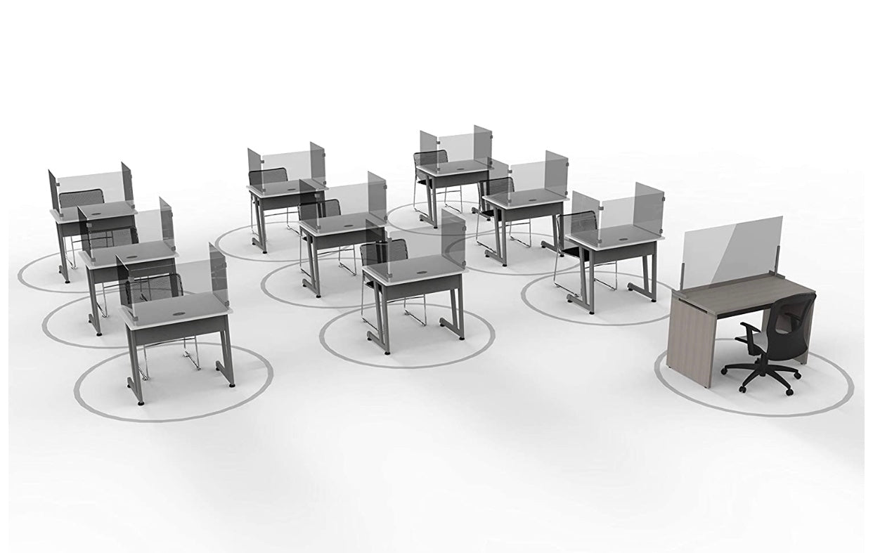 student desk shields for schools and universities