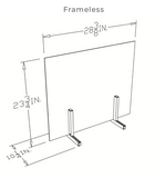 MADE IN USA - Frameless Sneeze Guard Barrier (AGA)