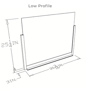 MADE IN USA - Low Profile Sneeze Guard Barrier