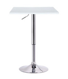 White Adjustable Pub Table