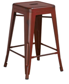 Distressed Bar Stool