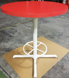 "36"" Red Bar Height Table"