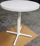 "36"" White Bar Height Table"