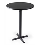 "30""w x 42""h Round Cocktail Table - Black"
