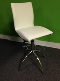 White Bar Height Chair