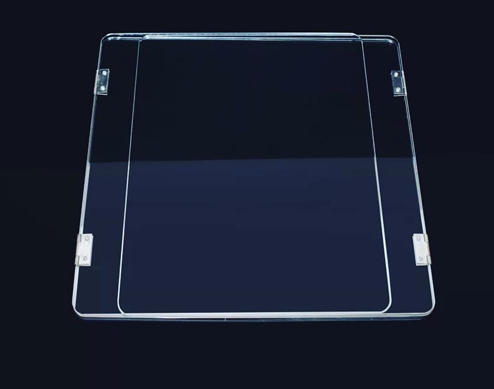 MADE IN USA: Student Desktop Folding Acrylic Shield