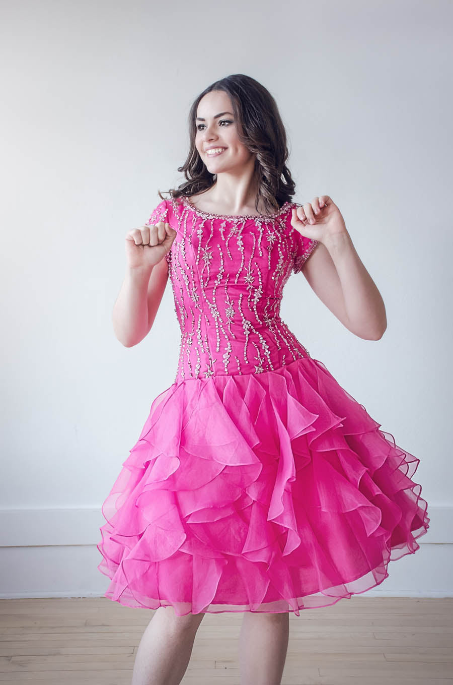 Kinsley Dress in Bright Pink