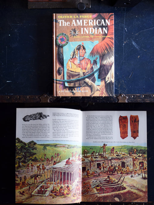 1960s The American Indian Book - Oliver LaFarge - Special Edition for Young Readers - A De Luxe Golden Book - Printed in the USA
